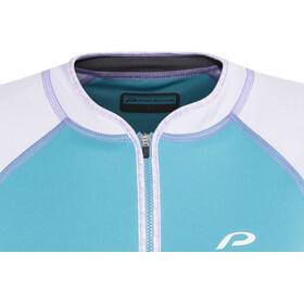 Protective Sabana Kortærmet cykeltrøje Damer blå/hvid